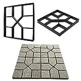 DIY Fertigkeit-Charme Beton Stepping Auffahrt Steinpfad-Form-Hersteller Zement Ziegel formen DIY...