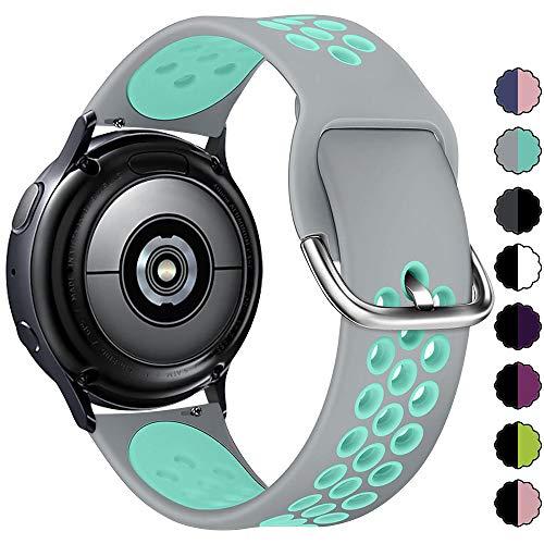 KIMILAR Armband Kompatibel mit Samsung Galaxy Watch 42mm/Watch Active/Active 2 (40mm/44mm) Silikon Armbänder Kompatibel mit Garmin Vivoactive 3/Forerunner 645/245/Vivomove/Vivomove HR Sport -S