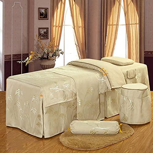 XKun Luz de lujo salón de belleza de seis piezas de gama alta de lujo cama de masaje falda combinación 70x190cm (28x75inch)