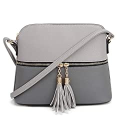 STYLISH & FUNCTIONAL: This stylish medium size dome crossbody purse features adjustable long shoulder strap (12 inches minimum or 24 inches maximum in drop length) with top zipper closure that can be worn many different ways. Perfect for those sunny ...