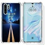 AIPNIS Cover Compatibile con Huawei P30 PRO, con 2 Pellicole in Vetro Temperato, Ultra Trasparente, in Silicone TPU Morbido con Assorbimento degli Urti
