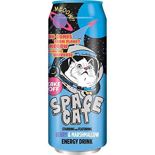 12 Dosen Take Off Drink Space Cat Berry Marshmallow a 500 ml in Dose inc. 3,00€ EINWEG Pfand