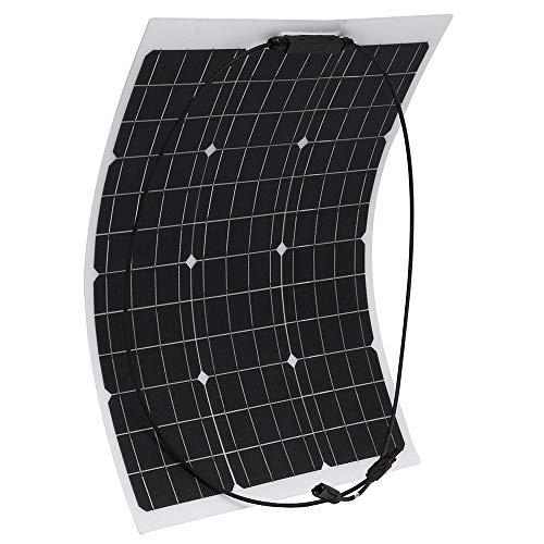 Zjcpow Pannello Solare Pannello di 50W 18V monocristallino Flessibile ETFE Solare for la casa del crogiolo di Automobile nominale Potenza Massima Pmax 50W (Color : Black, Size : #2)