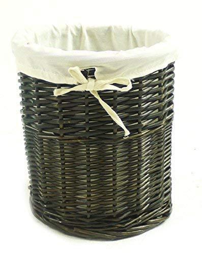 topfurnishing Olive Wicker Corner Laundry Basket Bin Bathroom Bedroom Storage[Olive Bin 26x26x28cm]
