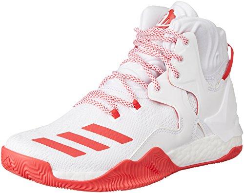 adidas D Rose 7, Zapatillas de Baloncesto para Hombre, Blanco (Ftwbla/Rojray/Ftwbla), 54 2/3 EU