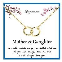 ロング天体2連円ネックレス 母と娘に 母へのネックレス 女性用 母の日 誕生日プレゼント