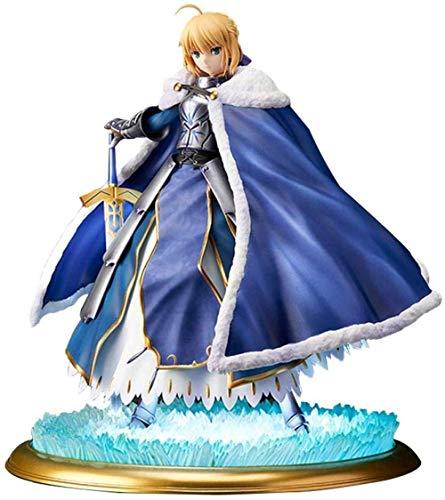 lkw-love Fate/Grand Order Saber avec Figurine de dans Pendragon Altria - Sculpture précise et détaillée - Equipé d'armes - Hauteur 25 cm