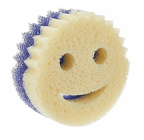 Scratch Free /& Resists Odors Scrub Daddy Sponge Daddy Dual-Sided Sponge and Scrubber 1 Pack 4 Count SPMVP