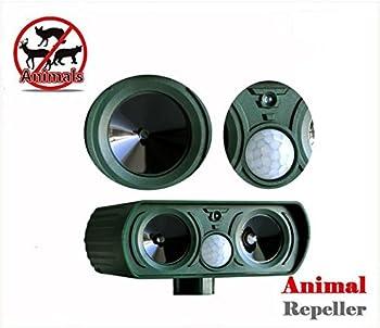 2pcs Répulsif à Ultrasons Pest Repeller Solaire/Ultrasonique Pour Animaux Chat,Chien,Renard