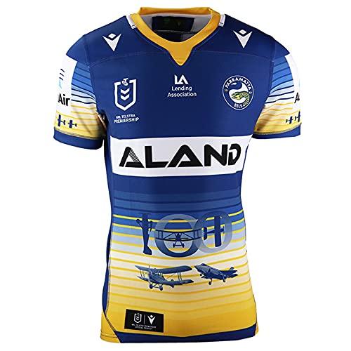 Xin Hai Yuan Camiseta de rugby 2020 de secado rápido para hombre de rugby, transpirable, manga corta, XL azul, C, XXL