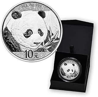 2018 CN Chinese 1 oz Silver Panda 10 Yuan BU in Capsule and Case