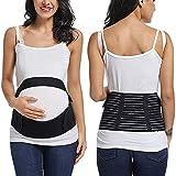 Banda para el vientre de maternidad para el embarazo, cinturón de maternidad para alivio del dolor pélvico y espalda de calidad, bandas para la cintura y el vientre - Negro - Large