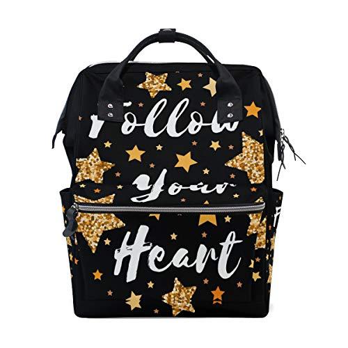 Sac à langer avec inscription en forme de cœur et inscription « Star » pour maman, homme, femme