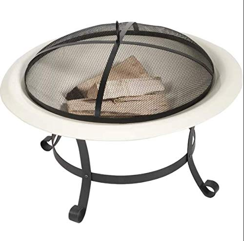 Sol 72 Outdoor Modern Round Steel Wood Burning Fire Pit