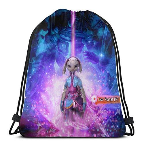 LREFON Drawstring Bag Mini Miesch Zipped Gym Sack School Bag For Backpack