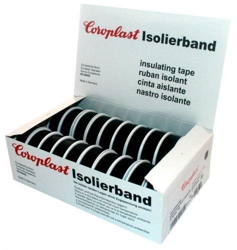 Isolierband Coroplast Box VDE Isoband Klebeband Elektriker Band Schwarz