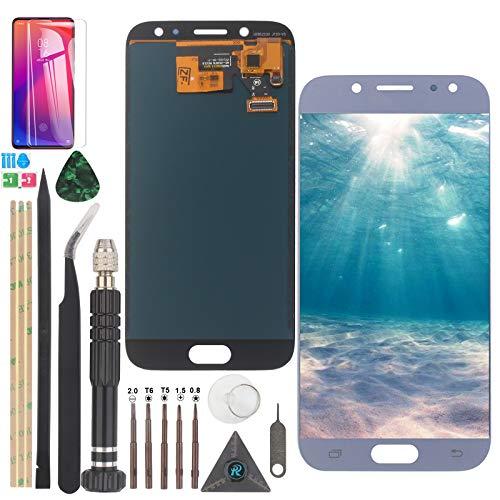 RongZy Reemplazo de Pantalla para Samsung Galaxy J5 (2017) J530 SM-J530F LCD Display Digitalizador de Pantalla táctil +con un Conjunto de Herramientas (Azul)