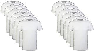 Men's Crew T-Shirt Multipack, White (6 Pack), X-Large &...