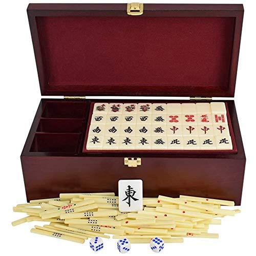 ZHIRCEKE Juego de Japón Mahjong, seleccionado producción de acrílico Saludable, Conjunto de Viajes de Caja de Regalo Mahjongg Japonés (2.7cm x 2 cm x 1,6 cm),Blanco