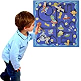 Space Travel Activity Wall for Toddlers  Sensory Wall Panel - Mounted Kids Activity Center - Wall Activities for Kids Rooms Decor, Playrooms, Doctor's Offices and Play Area - Child Gift Age 1 2 3 4