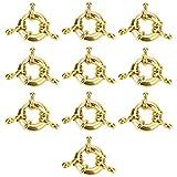 exceart 10 pz timone timone charms gioielli ganci collana connettore aragosta artiglio fermagli pendenti nautici perline charms per fai da te collana gioielli braccialetto 13mm argento
