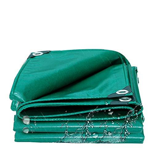HCYTPL zonnezeil groen PVC met oogjes voor tuinmeubelen barbecue auto zwembad trampoline waterdicht en scheurbestendig 400 g/m2