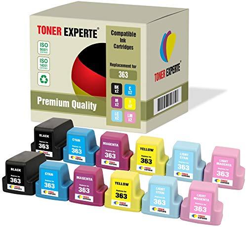 Pack de 12 XL TONER EXPERTE Compatibles con HP 363 Cartuchos de Tinta for HP Photosmart C5180, C6150, C6180, C6280, C7180, C7280, C8180, 3110, 3210, 3310, 8250, D6160, D7160, D7260, D7460, 3210xi