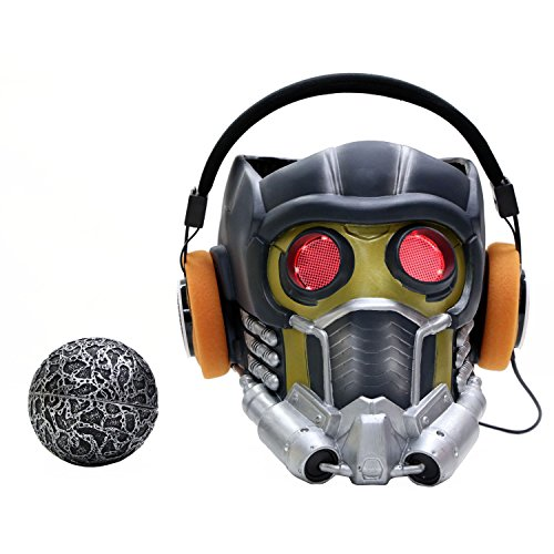 Xcoser Guardians Star Cosplay Lord Light Up Lifesize Helmet Adult Set