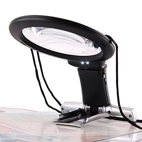 Als Direct Ltd TM Pack van 6 Grote Vergrootglas Met Licht LED Lamp