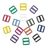 NBEADS 66 Piezas de Hebillas de Plástico, 11 Colores Triglide Slide Correas Hebillas para Correa Sujetador Mochila Cinturón Artesanía de Costura Que Hace