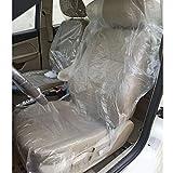 aleawol 100 coprisedili usa e getta in plastica ultra spessi, 20 g, impermeabili e antipolvere, per mantenere il sedile pulito per la manutenzione dell'auto