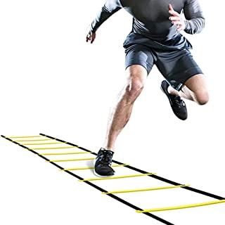 COYAVIC Agility Ladder Speed Training Equipment 12 Rung 20 Feet Sprots Agility Ladders for Football Basketball Fitness Soccer Balance Training for Adult & Kids with Carrying Bag