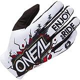 O'NEAL | Guante Motocross MX MTB DH FR Downhill Freeride | Materiales duraderos y Flexibles, Palma ventilada | Guante Matrix Youth Glove Villain | Niños | Blanco Multi | Talla XS