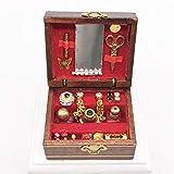 ARM Joyero de la casa de muñecas, 1: 12 Kids Cute Mini Sleeve Pearl Treasure Box Miniatura Escena Decoración Modelo Casa Accesorio Kid Toy