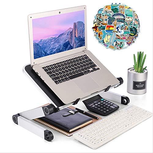 Mesa de ordenador ajustable aleación de aluminio escritorio portátil 360 grados soporte portátil plegable mesa de ordenador portátil bandeja soporte 302437 cm negro B