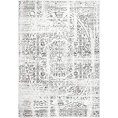 Rivet Muted Boho Rug, 5' x 8', Off-White