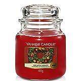 Yankee Candle Duftkerze im Glas (mittelgroß) | Red Apple Wreath | Brenndauer bis zu 75 Stunden