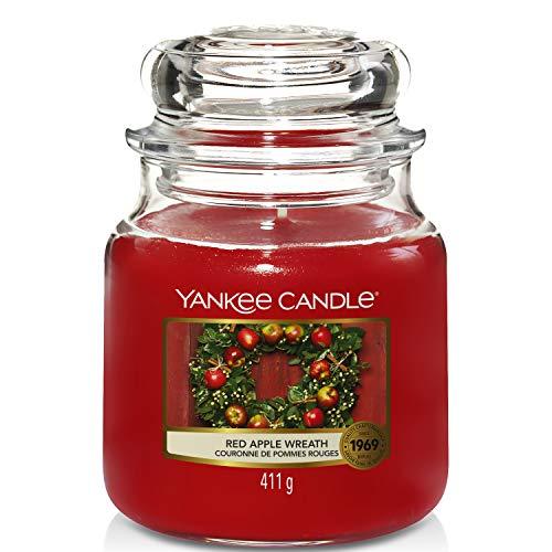 Yankee Candle Yankee candle duftkerze im glas mittelgroß | red apple wreath | brenndauer bis zu 75 stunden