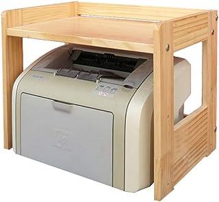 Soporte de microondas de madera maciza Carro de almacenamiento con ruedas Cocina Horno Estante Estante Puesto de trabajo (...