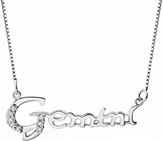Paialco Jewelry 925 Sterling Silver Zodiac Constellation Letter Necklace 18 Inches for Birthday