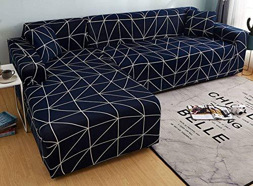 SLOUD Fodere per divani a Forma di L, Fodere per divani componibili, 2 Fodere per mobili morbide, con 2 federe, Tessuto in Poliestere Tipo L-C-2 posti+3 posti