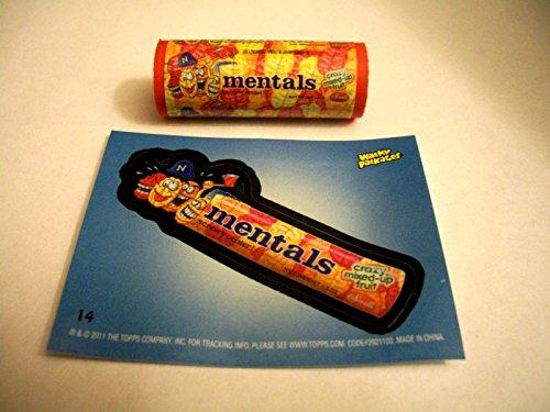 Wacky Packages Eraser Series2 **Mentals** Eraser & Matching Sticker #14