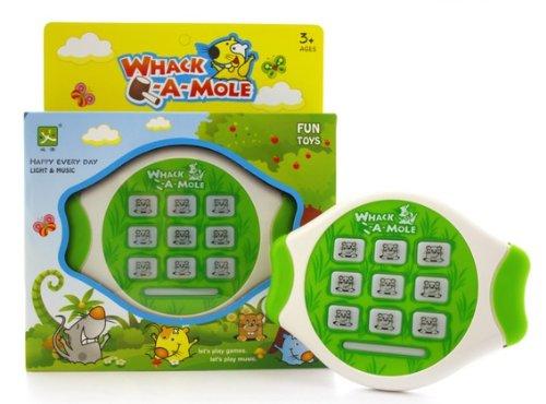 Wack a Mole - Reaktionsspiel batteriebetrieben mit Sound und Licht - Trainiere Dein Reaktionsvermögen!