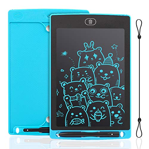 IDEASY Tableta de Escritura LCD de 8.5 Pulgadas, Tableta de Dibujo de un Solo Color, Tablero de Escritura LCD Electrónico para Niños, Escuela, el Hogar y la Oficina (Azul Claro)