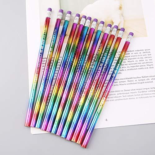 Lápiz WuLi77 de madera con arco iris HB, protección del medio ambiente, colores brillantes, lápices de pintura para dibujo, dibujo, dibujo, arte, estudiantes, papelería, regalo