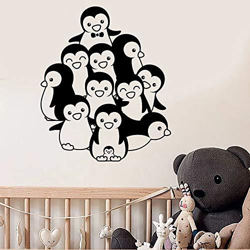 Tianpengyuanshuai Pinguin wandtattoo babykamer kinderkamer hoofddecoratie vinyl muursticker