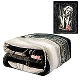 JPI Flannel Fleece Plush Blanket - Heartbreaker - Queen Bed 79'x 95' - Lightweight Microfiber Blanket for Beds, Sofa, Couch, Picnic, Camping