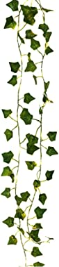 Artificial Ivy Leaves Greenery Garlands Hanging with String Light Fake Leaf Plants Faux Green Flowers Decor for Home Kitchen