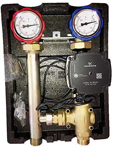 Rücklaufanhebung Ladeventileinheit mit 60°C | GRUNDFOS UPM3 HYBRID 25/7