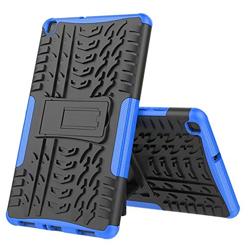 Nieuwe Tablet Case voor Samsung Tab ONE 8.0 inch 2019 T290 T295 T297 Back Cover 2 in 1 Silicon zachte harde Stand Armor Heavy Rugged case Blauw